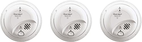 First Alert BRK SC-9120B gJnXgb Hardwired Smoke and Carbon Monoxide Alarm with Battery Backup, 3 Units