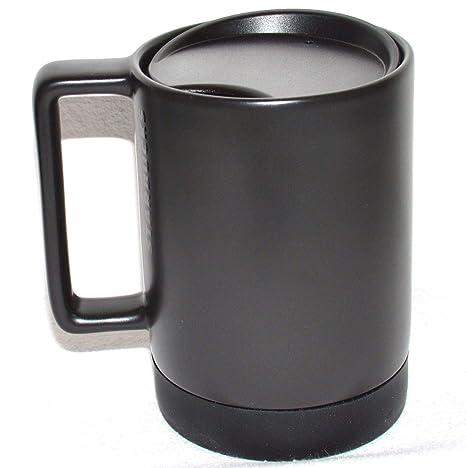 c4b5d3af4fe Amazon.com: Starbucks Black Ceramic Desktop Mug Silicone Nonslip Bottom  with press-in Lid, 14 Fl Oz: Kitchen & Dining
