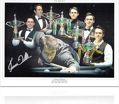 exclusivememorabilia.com Ronnie Osullivan Snooker Firmado Foto: El Cinco Veces campeón del Mundo Monte: Amazon.es: Deportes y aire libre