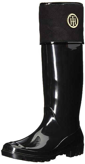 ddaf4d92fa8793 Tommy Hilfiger Women s Shiner Rain Boot Black 6 ...
