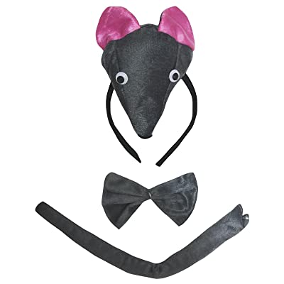 Petitebella 3D Headband Bowtie Tail Unisex Children 3pc Costume (3D Mouse): Clothing