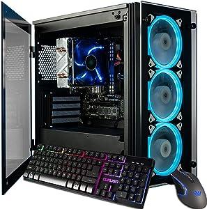 CUK Stratos Micro Business Desktop (Intel i7-9700K, 32GB DDR4 2666 RAM, 512GB NVMe SSD + 2TB HDD, 500W PSU, AC WiFi, Windows 10 Pro) Professional Desktop PC Computer