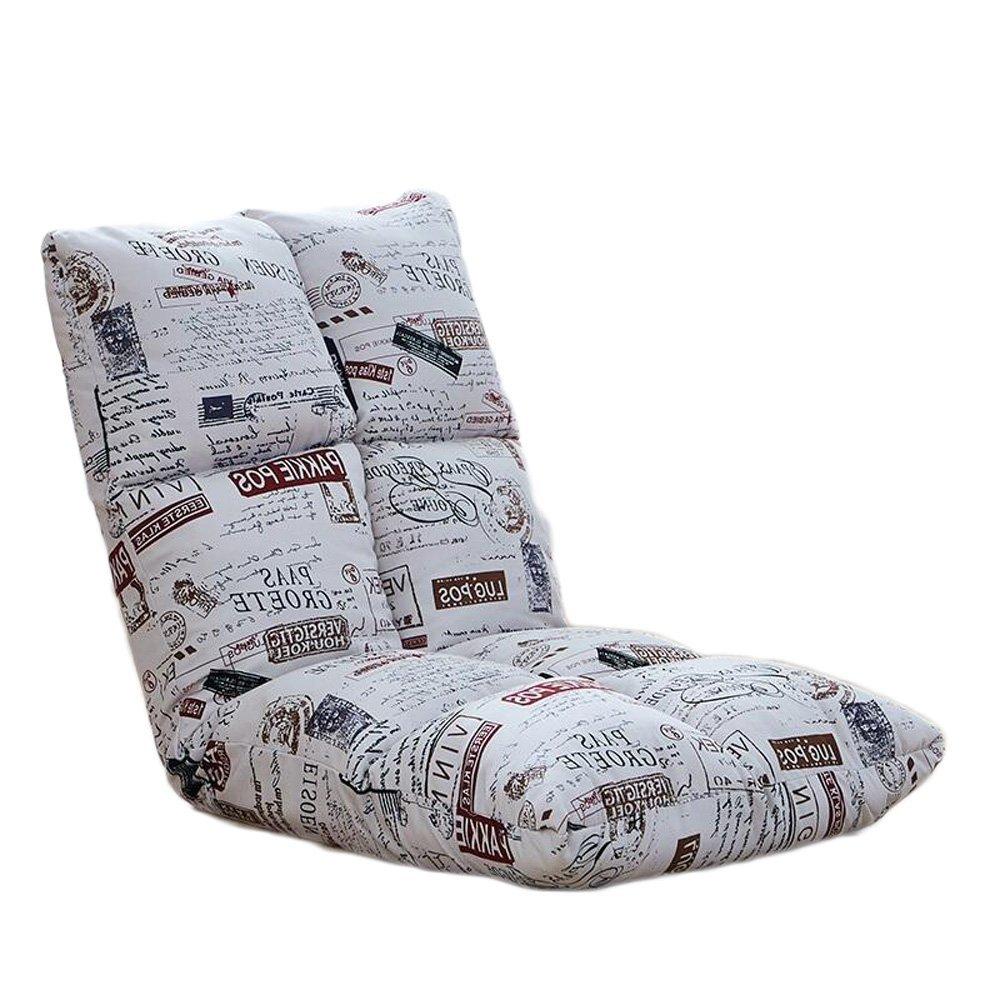 C Lazy Cotton Linen Canvas Sofa Chair Einzel Klappsofa Rückenlehne Stuhl Balkon Erker Freizeit Lounge Chair (Farbe  C)