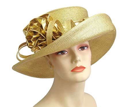 b841c8c5f34 Ms. Divine Collection Women s Glittering Straw Year Round Church Dressy  Formal Hats  4727 (