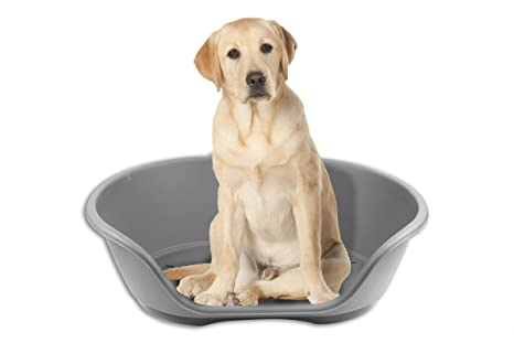 Lecho de plástico para mascotas, impermeable, resistente