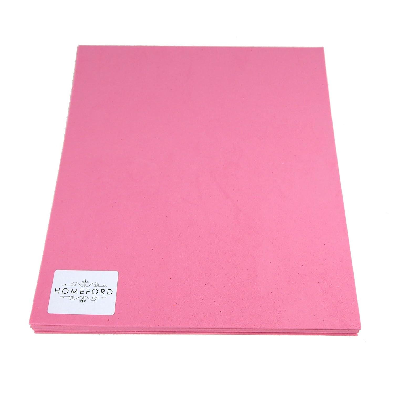 Homeford Plain EVA Foam Sheet, 9-1/2-Inch x 12-Inch, 10-Piece (Pink)