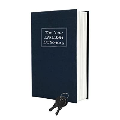 rademark Home Dictionary Diversion Book Safe with Key Lock