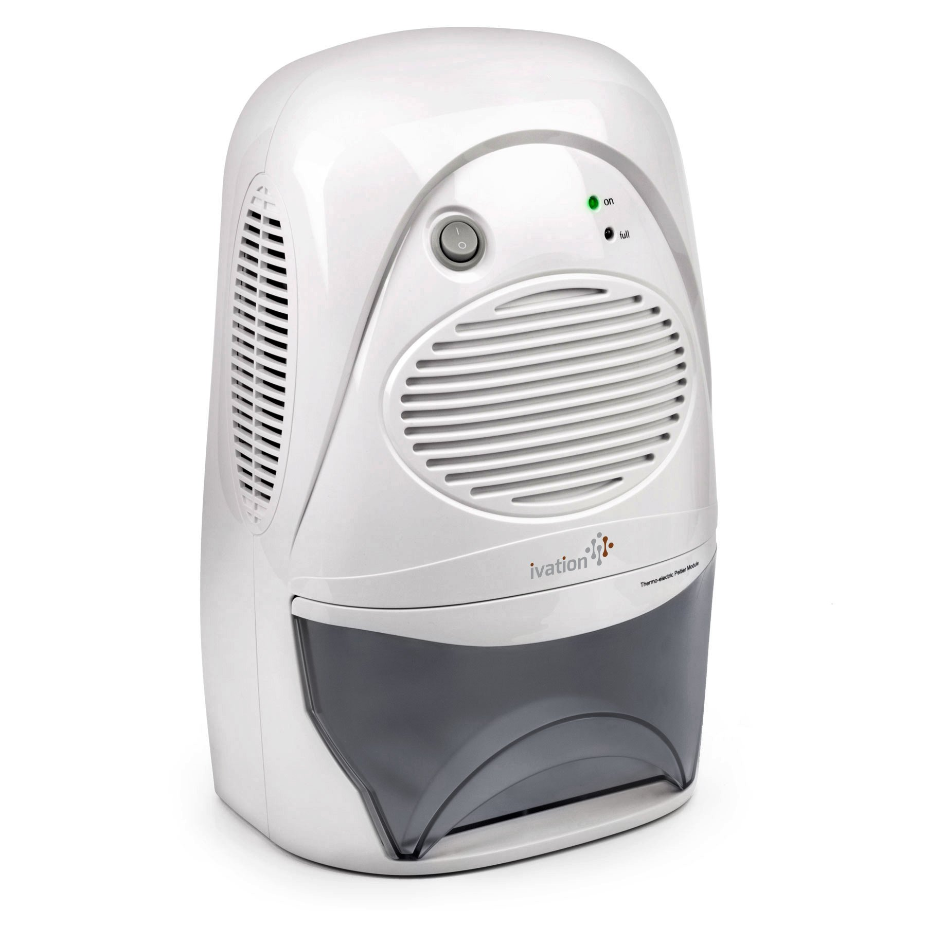Ivation Powerful Mid-Size Thermo-Electric Dehumidifier - Quietly Gathers Up to 20oz. of Water per Day - for Spaces Up to 2,200 Cubic Feet