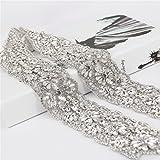 TRLYC Ivory Beading Bridal Belt Wedding Belt Bridal Sash Wedding Sash