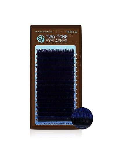 dadf47d9aec Amazon.com : TWO-TONE EYELASHES (A Curl .15, Black-Blue) : Fake Eyelashes  And Adhesives : Beauty