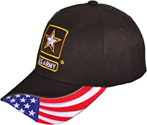 BK Caps MILITARY BASEBALL HATS US ARMY LOGO W SHADOW   FLAG EMBROIDERED cbb0322ae77