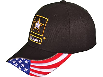 Amazon.com  BK Caps MILITARY BASEBALL HATS US ARMY LOGO W SHADOW ... 83c5a73e76bd