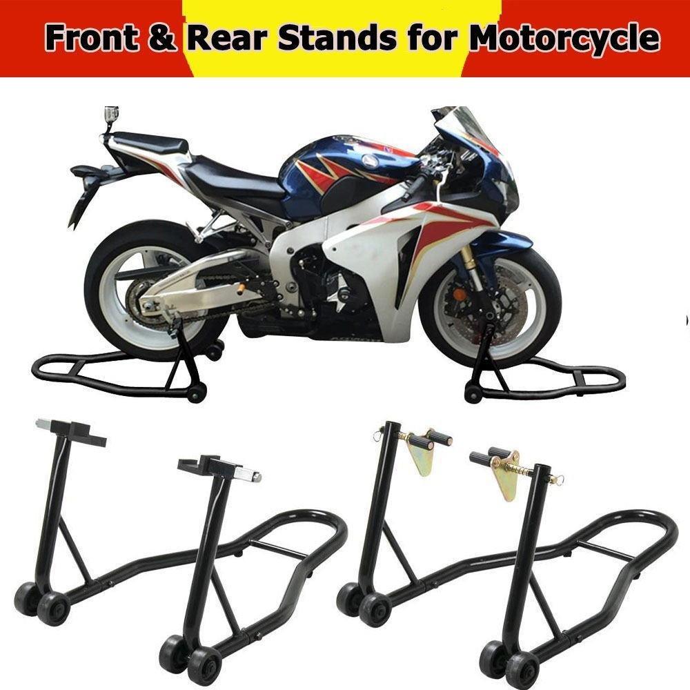 Yaheetech 1 Pair Motorcycle Stand Front & Rear Swingarm Lift Head Front Forklift Auto Bike Fits Honda,Kawasaki,Suzuki,Yamaha