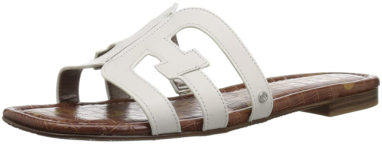 Sam Edelman Women's Bay Slide Sandal B0762SWWVY 6 B(M) US|Bright White Leather