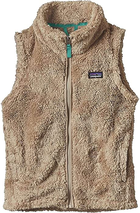 Patagonia Girls Los Gatos Vest - Khaki/Strait Blue - Small
