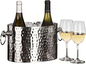 Chic Chill Handcrafted Artisan 2 bottle Champagne and Wine Chiller (Stainless Steel)