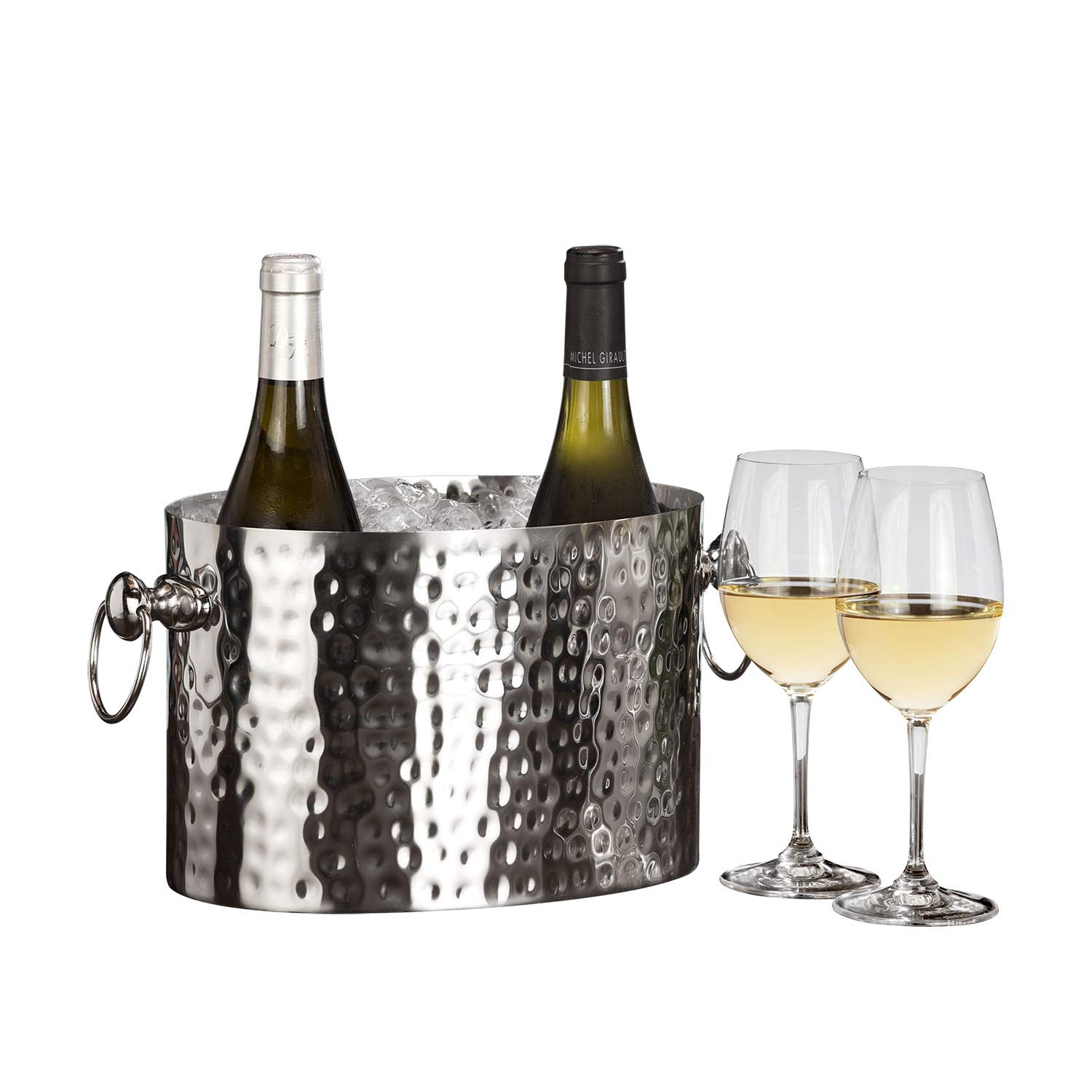 Chic Chill Handcrafted Artisan 2 bottle Champagne and Wine Chiller (Stainless Steel) by Chic Chill