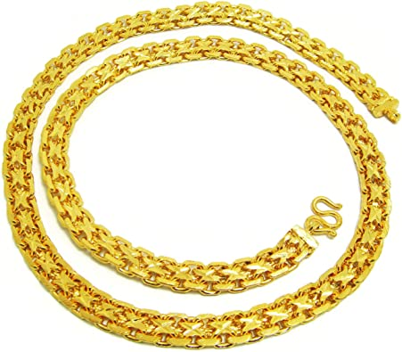 22K 23K Thai Baht Men/'s Necklace Yellow Gold Plated Bangle#22
