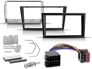 Kit de instalación de radio de 2 DIN con marco de radio profesional, adaptador de radio, marco de inserción, adaptador de antena, barra de desbloqueo ...