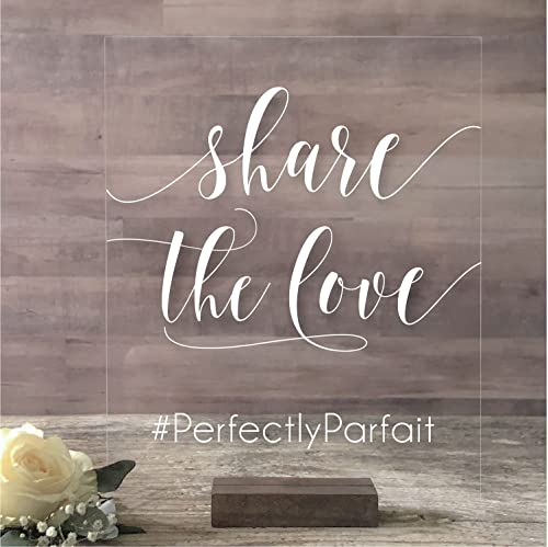 Share Pictures Instagram Sign Wedding Sign 8x10 Acrylic Social Media Sign Hashtag Sign