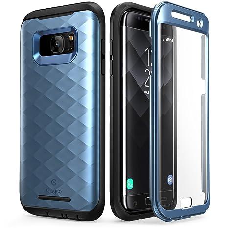 Galaxy S7 Edge Hülle, Clayco [Hera Serie] Schutzhülle Ganzkörper Handyhülle Kratzfest Case/Cover mit eingebautem Displayschut