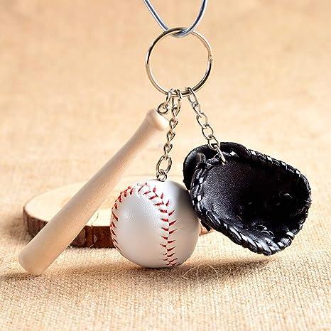 Amazon.com: YPT – Llavero con diseño de pelota de béisbol de ...