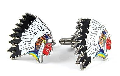 Gemelos Cabeza de Indio: Amazon.es: Joyería
