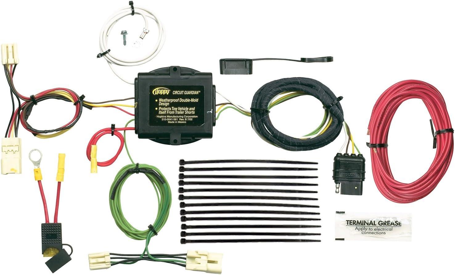 amazon.com: hopkins 43445 vehicle to trailer wiring kit for toyota rav4:  automotive  amazon.com