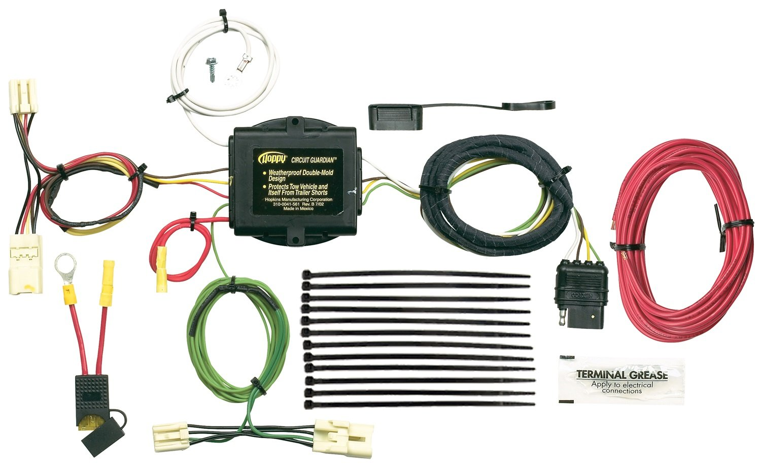 71xAqCdW7GL._SL1500_ amazon com hopkins 43445 vehicle to trailer wiring kit for toyota 4 Prong Trailer Wiring Diagram at mifinder.co