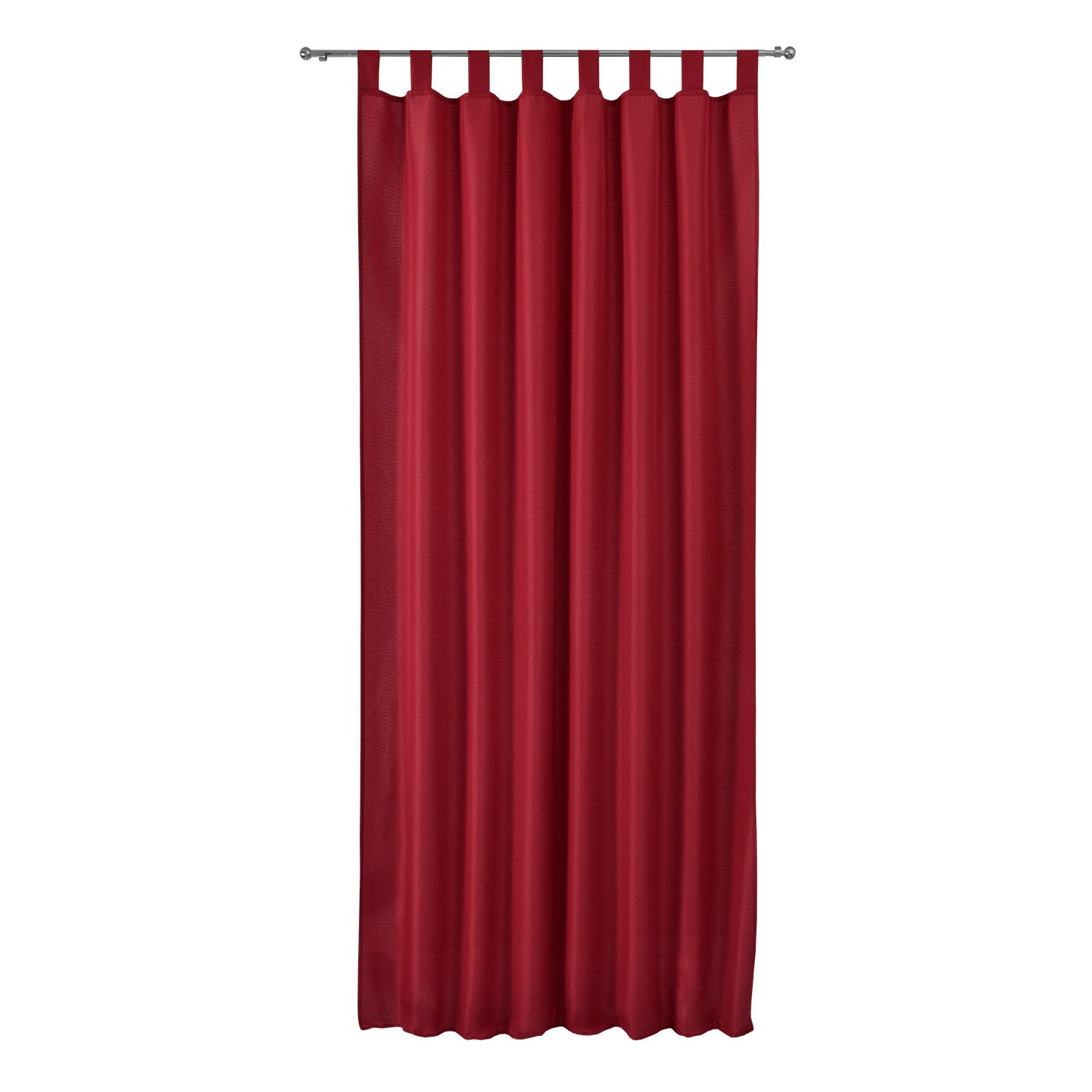 Beautissu Opaque Loop-Curtain Amelie 140 cm 175 cm Drop Black Decorative Drape Loop-Curtain Window-Scarf