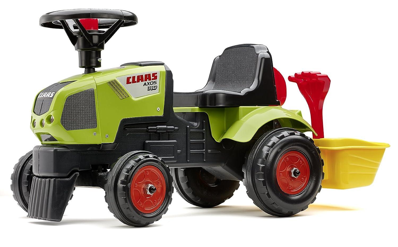 Falk –  1012 A –  Fahrrad Und Fahrzeug fü r Kinder –  Baby Traktor Claas Axos + Benne + Zubehö r Falquet F1012A