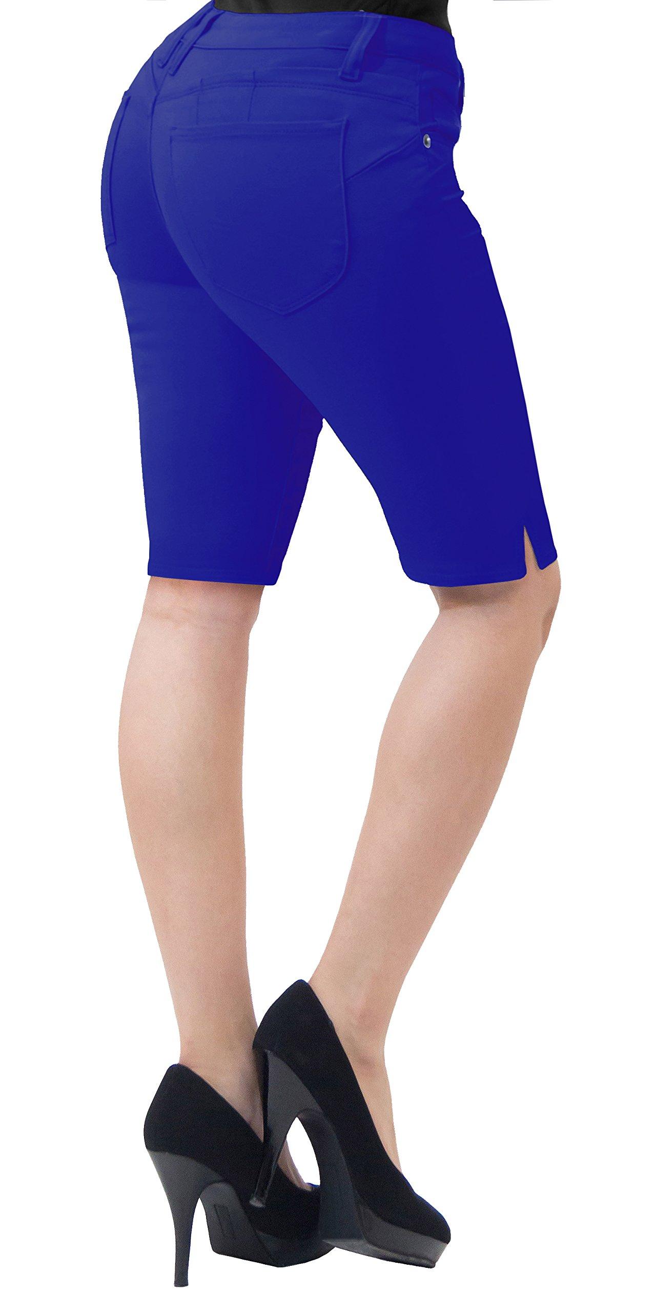 HyBrid & Company Super Comfy Stretch Bermuda Shorts B43308 Royal 5