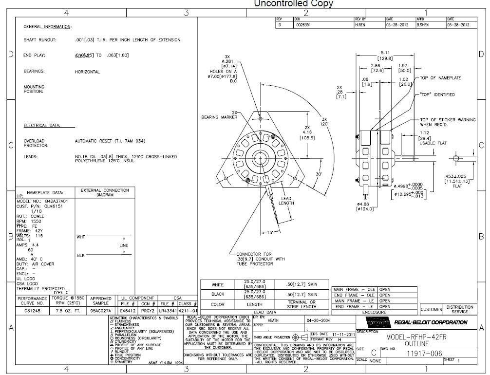 Lomancool 2000 Power Vent Replacement Motor