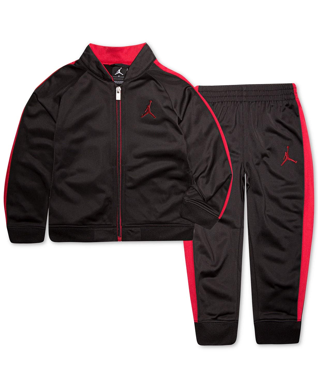 Nike Air Jordan Toddlers Tricot Tracksuit Jacket & Pants Set (Black, 4T) by Jordan