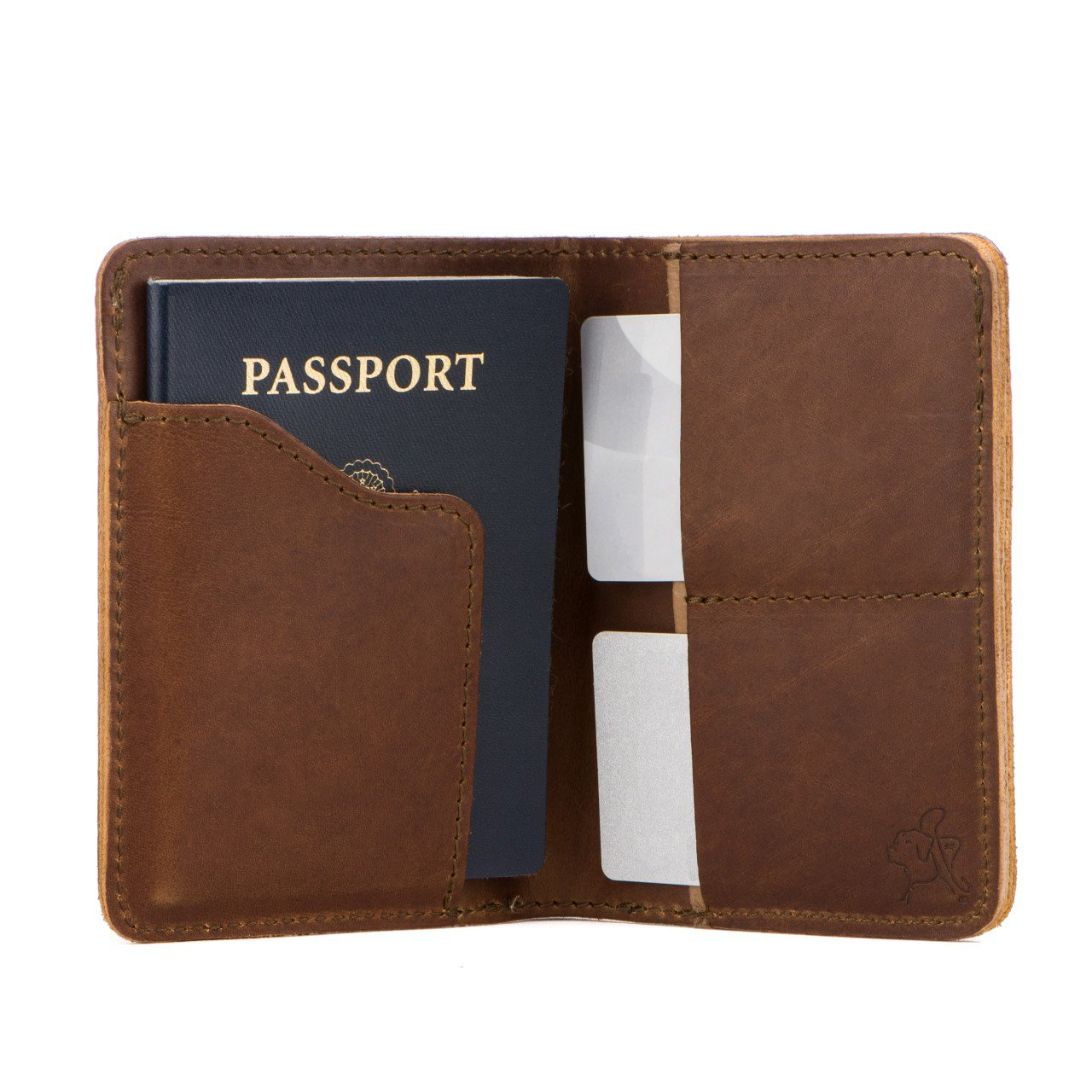 Saddleback Leather Co. RFID US Passport Holder Family Passport Wallet Includes 100 Year Warranty CLC-WPP2-CB-RF