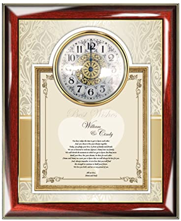 Amazon.com: Parents Best Wishes Wedding Gift Frame to Bride Daughter ...