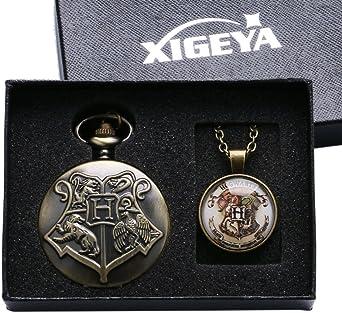 Collar de Harry Potter XIGEYA Retro Reloj de Bolsillo Collar con ...