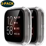 FASTSNAIL Screen Protector Case for Fitbit Versa 2, [2 Pack] Protective Case Anti-Scratch Cover Shell for Fitbit Versa 2 Smartwatch