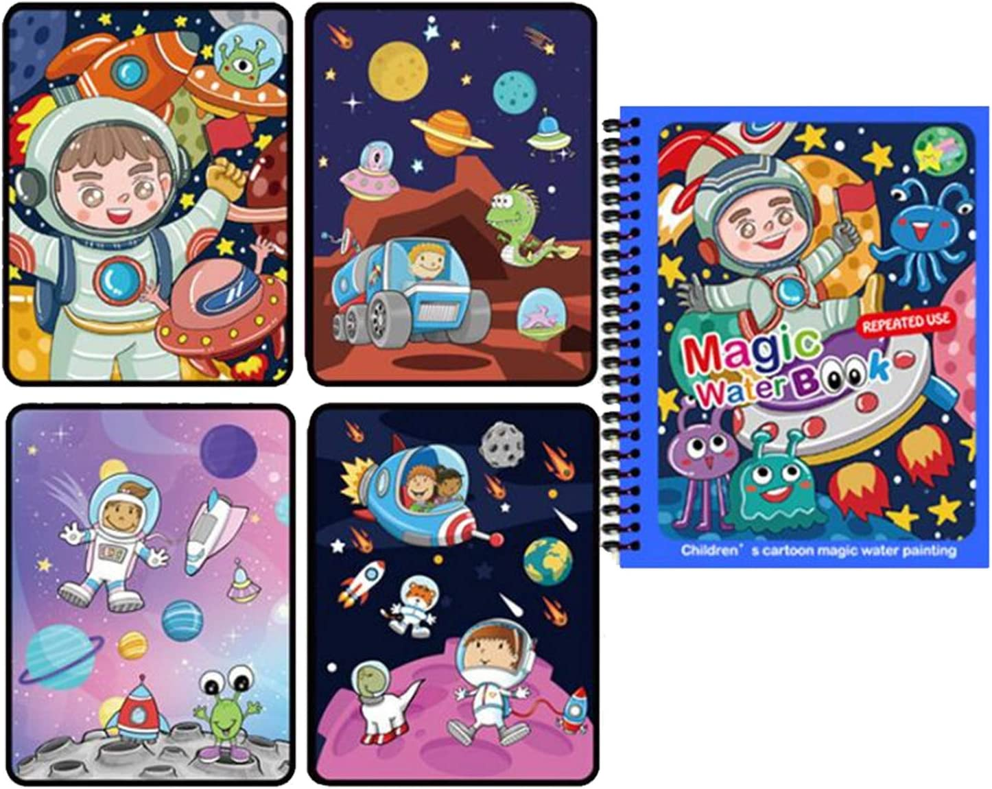 Underwater and Aviation World VANTIYAUS 2 Packs Water Doodle Pad Drawing Reusable Magic Painting Dinosaur Theme Reusable Coloring Book with Pen for Children at Home