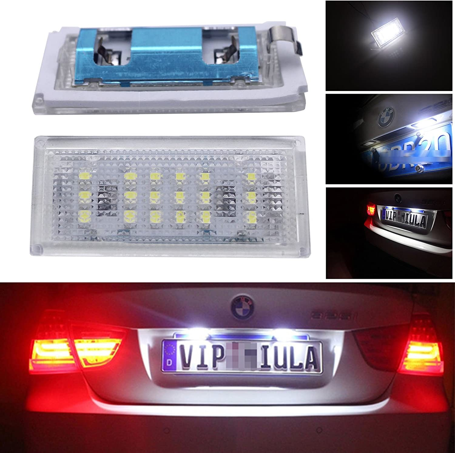 1x Fits BMW 3 Series E46 Bright Xenon White LED Number Plate Upgrade Light Bulb