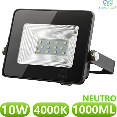 Foco LED exterior Floodlight 10W GNETIC GLASS Proyector Negro ...