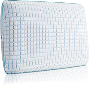 MEWE Cooling Pillows for Sleeping Cool Memory Foam Pillow Side Sleeper Pillows for Neck and Shoulder Pain with Cooling Washable Cover (24 x 16 x 5Inch)