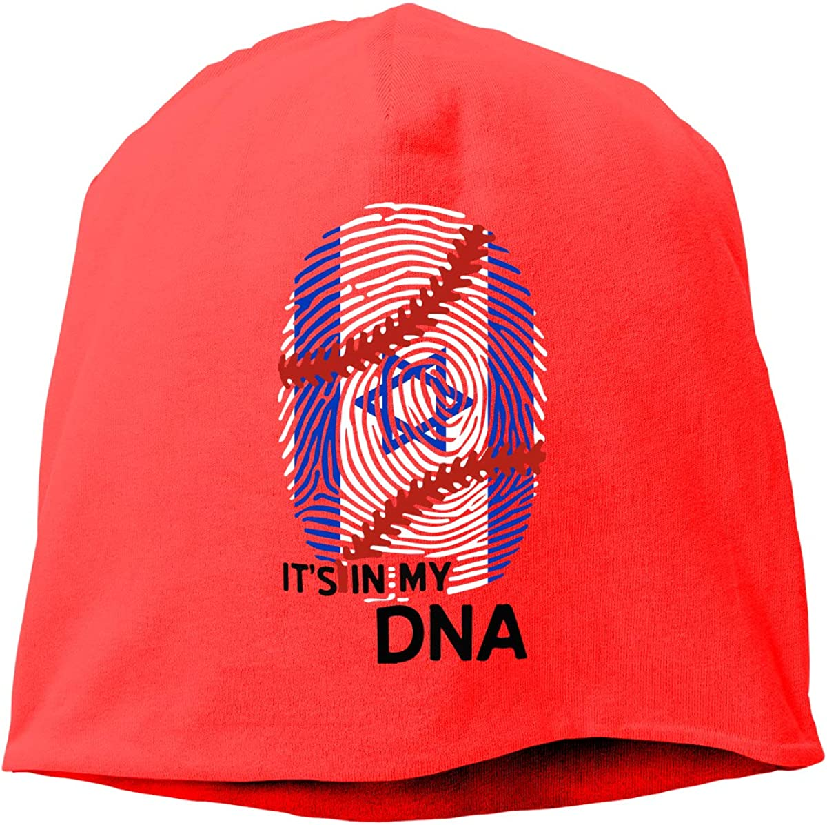 Winter Warm Knit Hat Israel Flag Baseball in My DNA Beanie Skull Cap for Women and Men