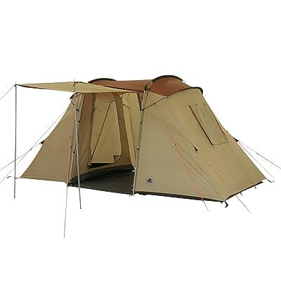10T Delano 4 Tente vis-à-vis pour 4 personnes Beige/Châtain