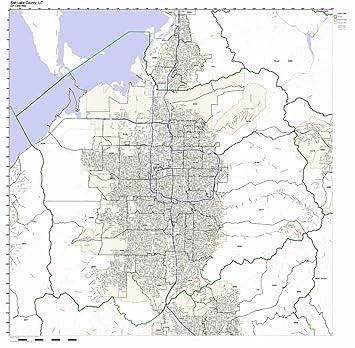 Amazon Com Salt Lake County Utah Ut Zip Code Map Not Laminated