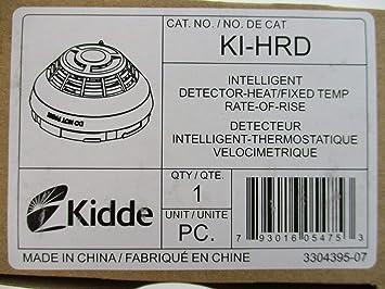Kidde KI-HRD - Detector de Calor Inteligente Fijo de Temperatura/tasa de elevación: Amazon.es: Electrónica