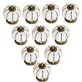 MITE 10pcs Ceramic Vintage Pumpkin Handles Knobs for Drawers Cabinets Doors Furniture Kitchen Home Decorating (Lvory)