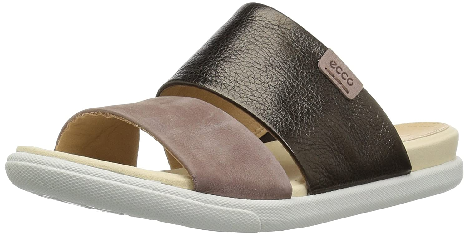 ECCO Women's Damara Ii Slide Sandal B07716BVRC 41 M EU (10-10.5 US)|Licorice/Deep Taupe