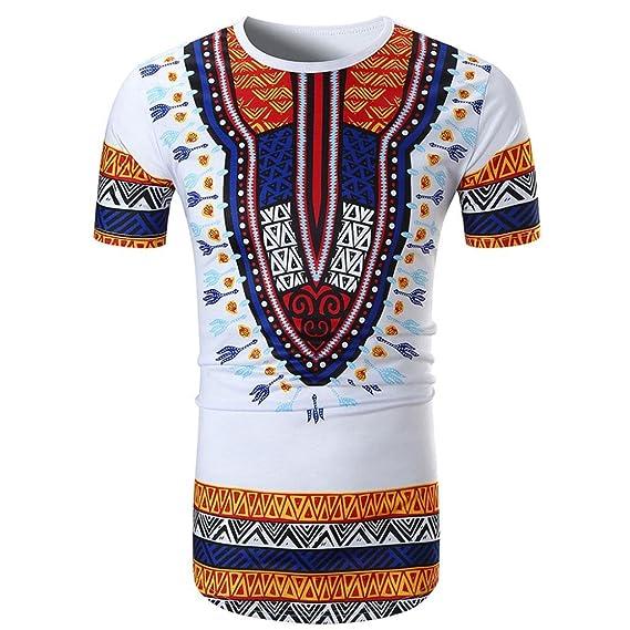 RETUROM -Camisetas Camiseta para Hombre, Casual de Manga Corta con Cuello en Pico y