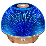 VicTsing 200ML Starburst Fireworks Effect 3D Glass Essential Oil Diffuser, Ultrasonic Humidifier with 7 Color Changing LED Lights, Waterless Auto-Off Function, Great for Home, Office, Gym, Beauty Parlor, Yoga or Baby Room